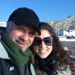 Con Tiziana mia moglie